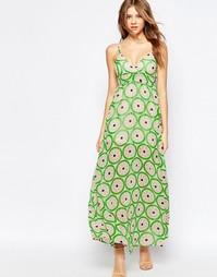 Длинное платье-сорочка с арбузным принтом Traffic People - Арбуз