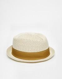 Соломенная шляпа-федора Goorin Guillermo - Кремовый