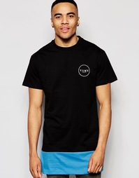 Длинная футболка со вставкой цвета морской волны Friend or Faux