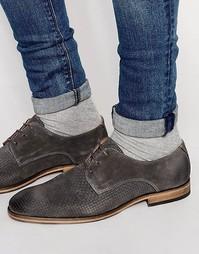 Замшевые туфли с плетеной отделкой Selected Homme Bolton - Серый