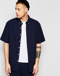 Рубашка из ткани сирсакер с короткими рукавами ADPT Co-ord