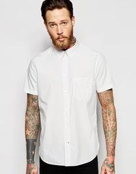 Классическая рубашка в тонкую полоску с короткими рукавами Paul Smith