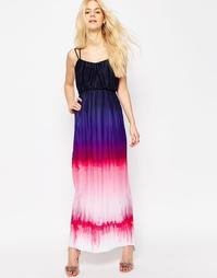 Плиссированное платье макси с эффектом деграде ASOS - Мульти