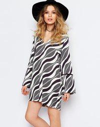 Платье мини с принтом Stevie May Cedar - Мульти