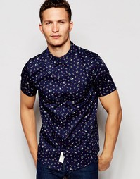 Рубашка с короткими рукавами и цветочным принтом Native Youth - Синий