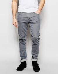 Суженные книзу серые джинсы слим Nudie Jeans Lean Dean - Misty grey