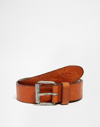 Кожаный ремень Jack & Jones - Коричневый