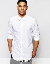 Белая удлиненная рубашка из эластичного поплина G-Star Be RAW Rovic-A