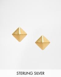 Позолоченные серьги Pieces & Julie Sandlau Jix - Золотой
