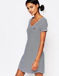 Ночная сорочка Calvin Klein ONE - В темно-синюю полоску