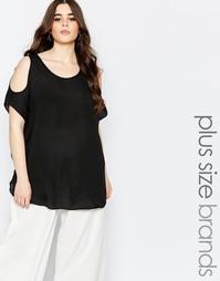 Блузка с открытыми плечами Koko Plus - Черный