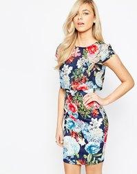 Платье с цветочным узором на топе Jessica Wright Kylie