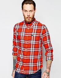 Меланжевая рубашка на пуговицах из саржи в красную клетку Lee