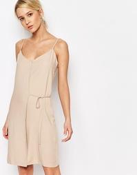 Платье с запахом Neon Rose - Телесный