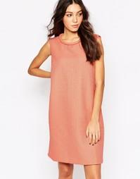 Структурированное цельнокройное платье Y.A.S Ina - Розовый