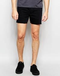 Короткие джинсовые шорты Religion - Черный перекрашенный