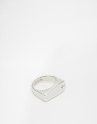 Кольцо с печаткой в виде гроба Mister - Серебряный