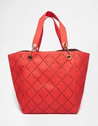 Перфорированная сумка для покупок Urban Originals - Коралловый