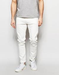 Белые зауженные джинсы стретч Lee Luke - White fix (белый)