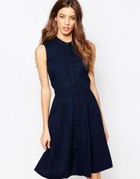 Короткое приталенное платье Y.A.S Homie - Синий