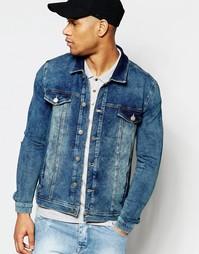 Трикотажная синяя куртка в стиле вестерн ASOS - Синий