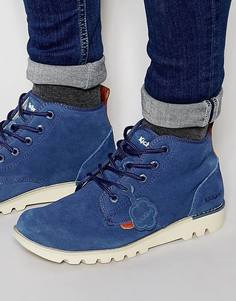 Замшевые ботинки Kickers Kick Hisuma - Синий