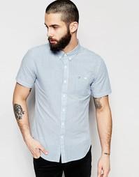 Рубашка слим с короткими рукавами и пунктирной полоской Farah - Sky
