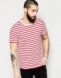 Узкая футболка в полоску Farah - Красный