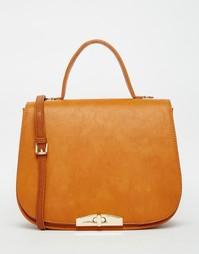 Большая рыже-коричневая сумка-седло Marc B - Ginger