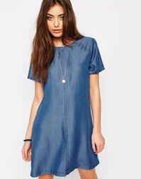 Джинсовое цельнокройное платье Abercrombie & Fitch - Деним