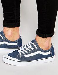 Синие кроссовки Vans Black Ball V19BIXO - Синий