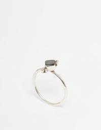 Серебряное кольцо с черным перламутром Regal Rose AYLAH - Серебряный