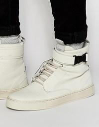 Серые высокие кроссовки с пряжкой Dark Future - Серый