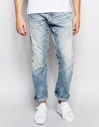 Свободные джинсы со вставками Jack & Jones - Светло-голубой