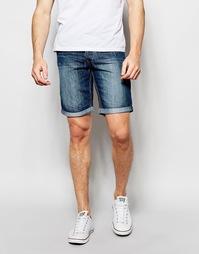 Джинсовые шорты слим Blend Twister - Средний синий