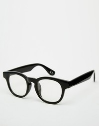 Очки с прозрачными стеклами ASOS Black - Черный