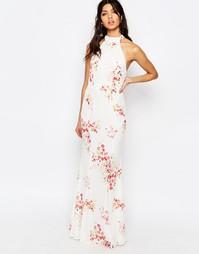 Платье макси с высоким воротом Jarlo Caden - Принт