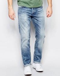 Умеренно выбеленные прямые джинсы Only & Sons - Умеренный синий