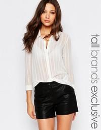 Прозрачная блузка Y.A.S Tall - Белый