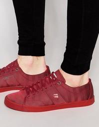 Монохромные кроссовки G-Star Dex - Красный