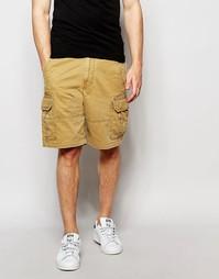 Бежевые шорты карго Hollister - Бежевый