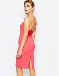 Платье миди на бретельках с удлиненной кружевной спинкой Elise Ryan