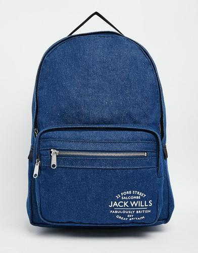 Синий классический рюкзак Jack Wills - Indigo - индиго