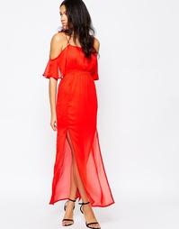 Платье с полупрозрачным верхним слоем Mela Loves London - Красный