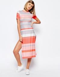 Вязаное платье в полоску Lost Ink - Мульти