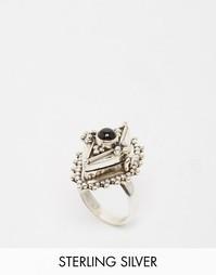 Кольцо с полудрагоценным камнем ониксом Rock N Rose Venus - Серебряный