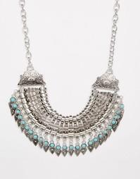 Броское ожерелье с монетками Reclaimed Vintage - Серебряный