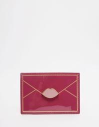 Пурпурная визитница Lulu Guinness - Фуксиево-красный