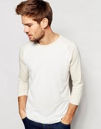 Лонгслив с контрастными рукавами реглан Selected Homme - Белый