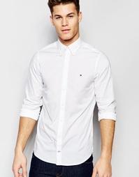 Эластичная белая рубашка кроя слим из поплина Tommy Hilfiger - Белый